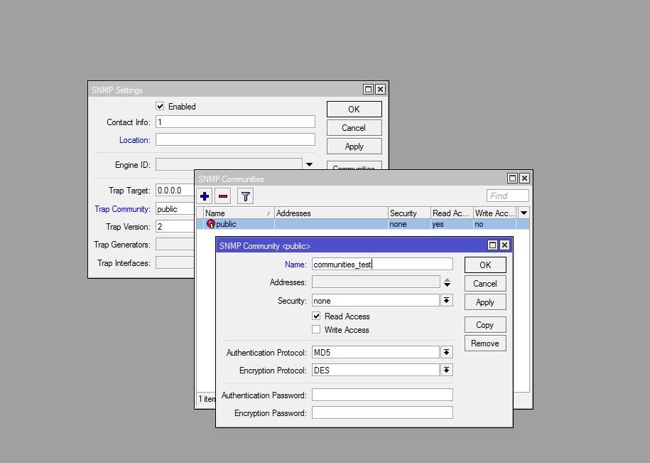 Мониторинг MikroTik с помощью Zabbix